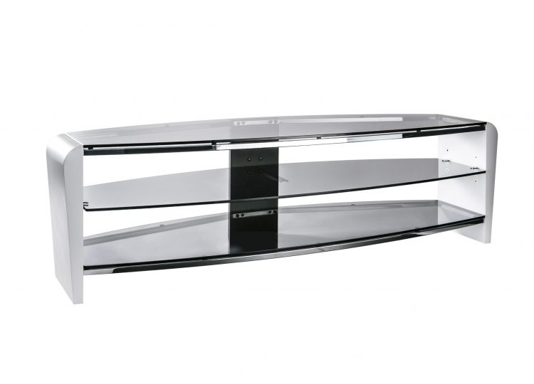 1. Francium 1400 TV Stand Smoked White