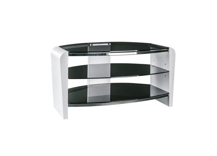 1. Francium 800 TV Stand Smoked White